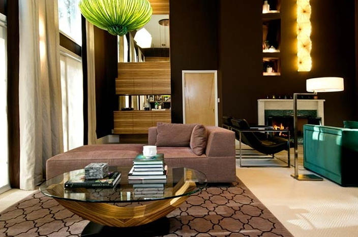 Chocolate color for the living room home interior design - Chocolate brown room designs ...