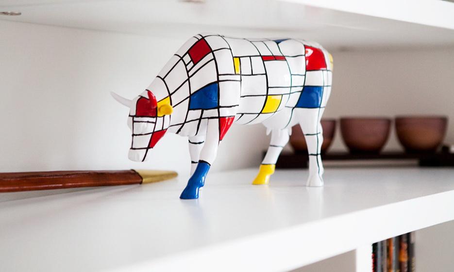 151-Mondrian cow