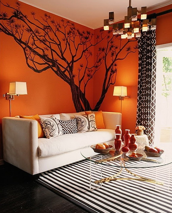 2-beautiful tree on the wall