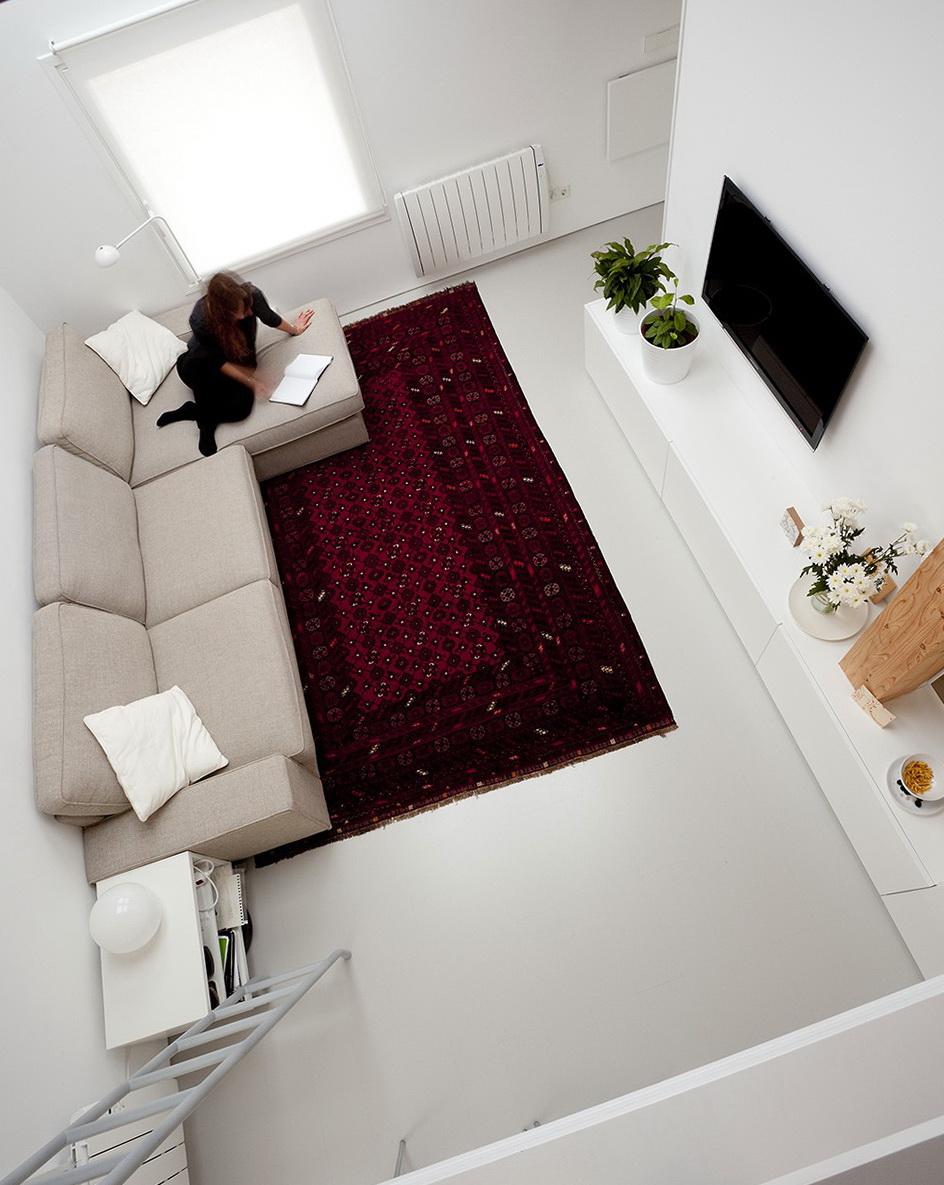 2 Burgundy Carpet The Living Room