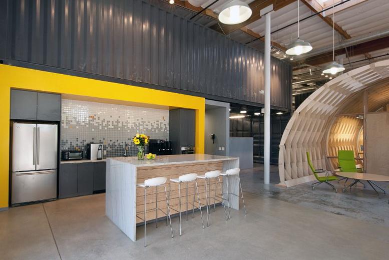 cool small attic spaces - Contemporary fice Space In California