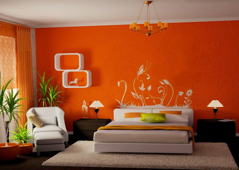 2-orange bedroom
