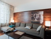 Three-Room Apartment Based on Three Principles: Openness, Shades of Loft Aesthetics and Only Custom-...