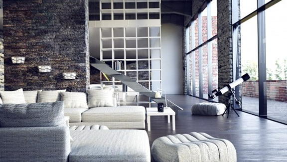 Modern loft-style apartments | Home Interior Design, Kitchen and ...