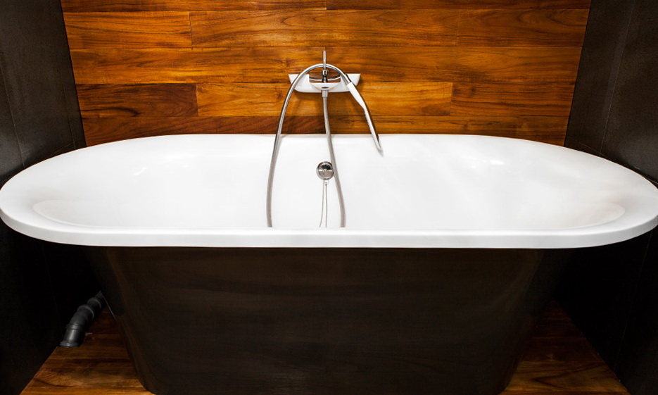 51-Teak by Rad Wood, sanitaryware by Duravit