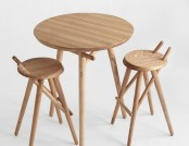 Beautiful natural wood stool