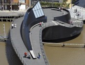 Innovative Swing Bridge Over the River Hull