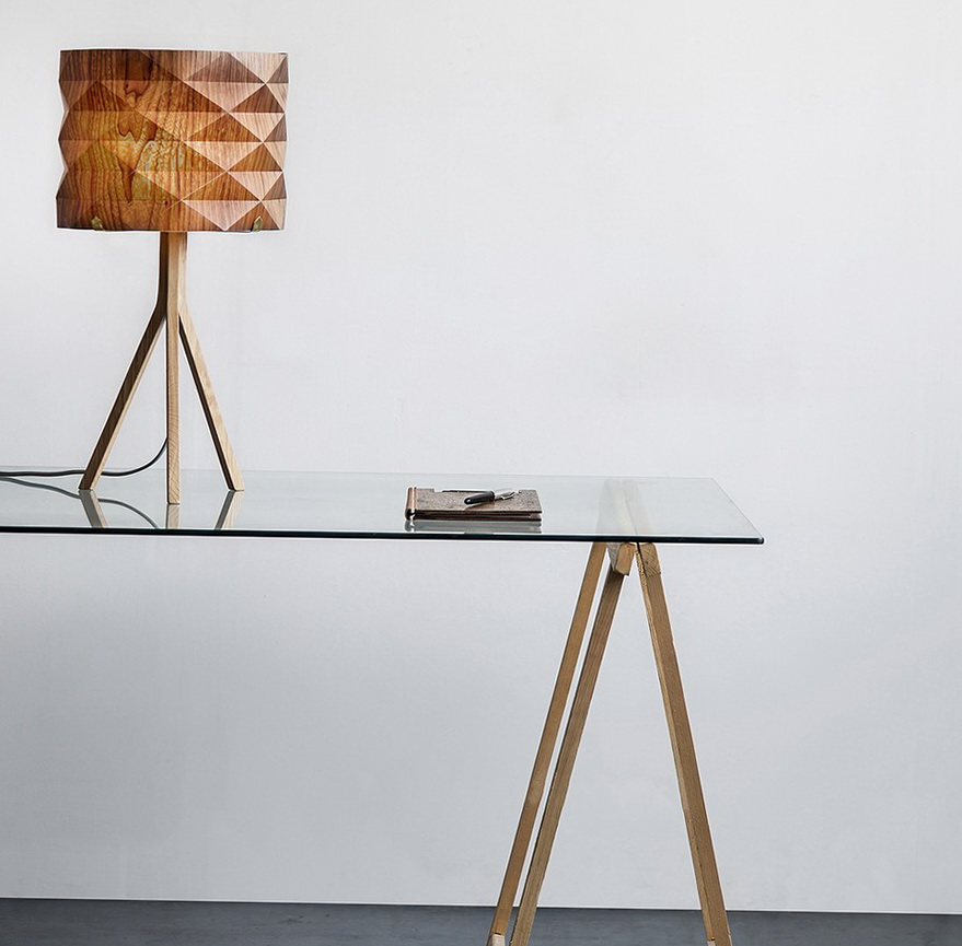 7-lamp on table