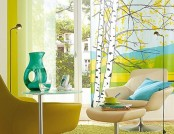 Beautiful living room turquoise