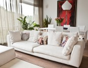 Apartment in Style of European Minimalism: White Walls, Panoramic Windows, Light-Colored Laconic Fur...