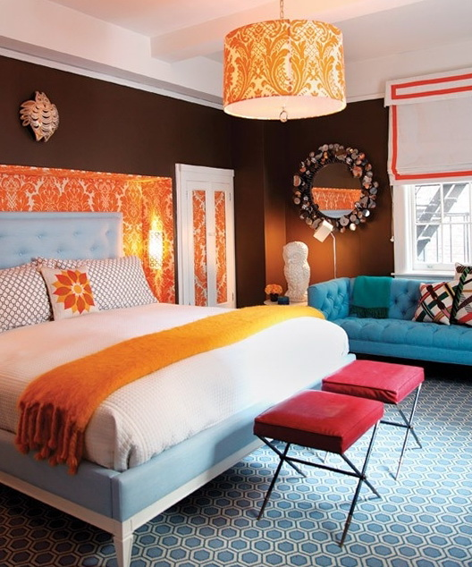 10 Bedrooms In A Bright Orange Color