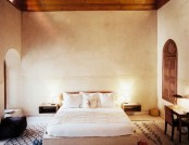 The bedroom in Moroccan style