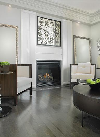 gray flooring. white and gray interior