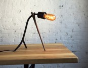 The lamp in the form of branches