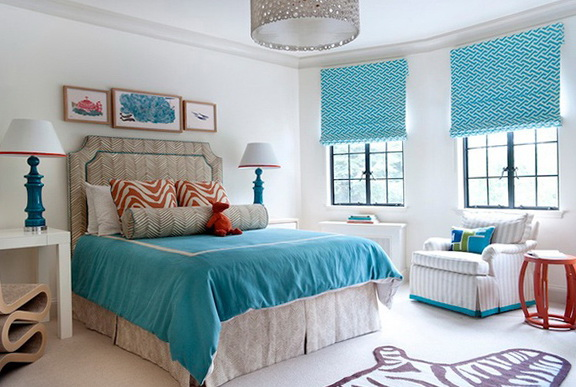 40 amazing bedrooms in turquoise color home interior
