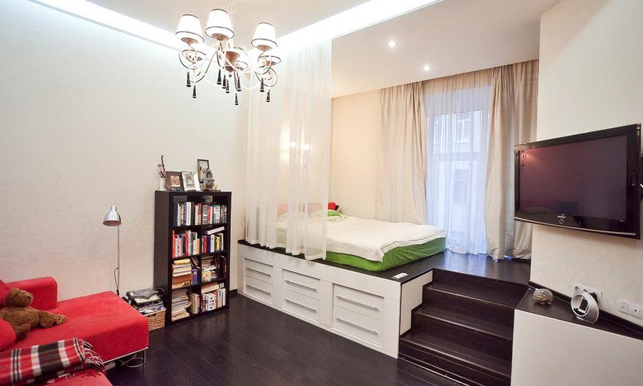 Raised Bedroom Studio Apartment