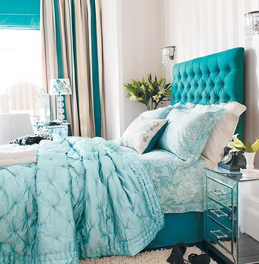 40 amazing bedrooms in turquoise color | Home Interior Design ...