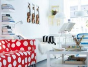 The interior apartments in polka dots large and small