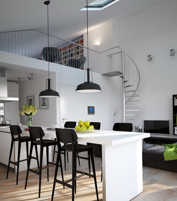 Second Home Decorating Ideas: Gorgeous Visualization With Loft-style Apartments