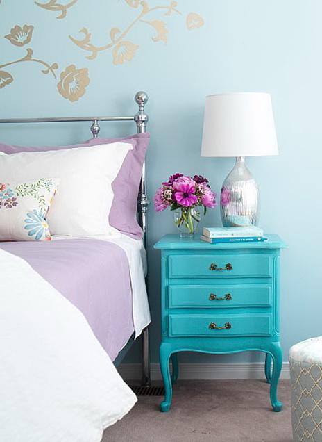 Fantastic 40 amazing bedrooms in turquoise color | Home Interior Design  QD52