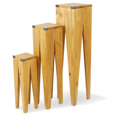 River Set Of 3 Art & Craft Plant Stand