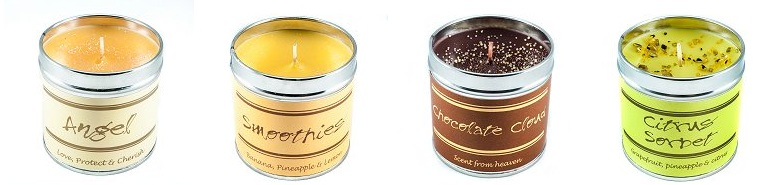 candles beige chocolate green