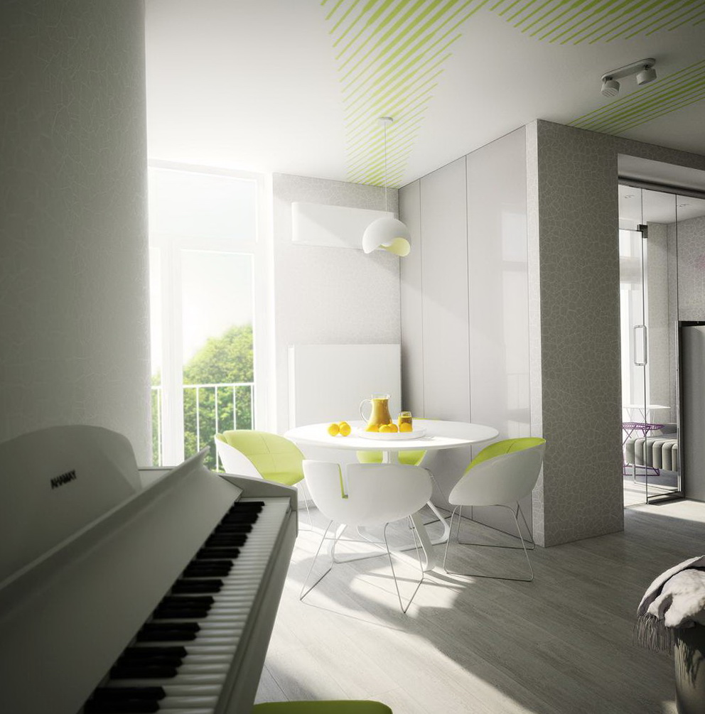 Bright and green interior from Ukrainian designer | Home Interior ...