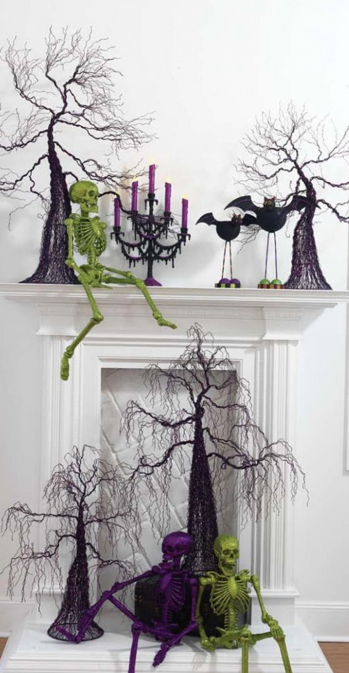 10 ideas to decorate a fireplace in Halloween | Home Interior Design ...