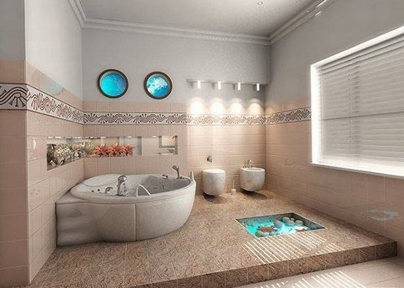 1-spacious bathroom