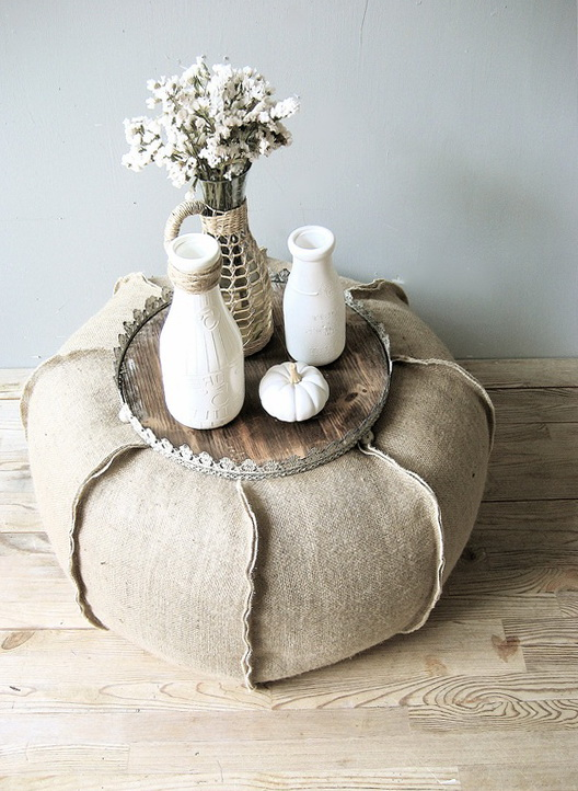 10-Table of burlap