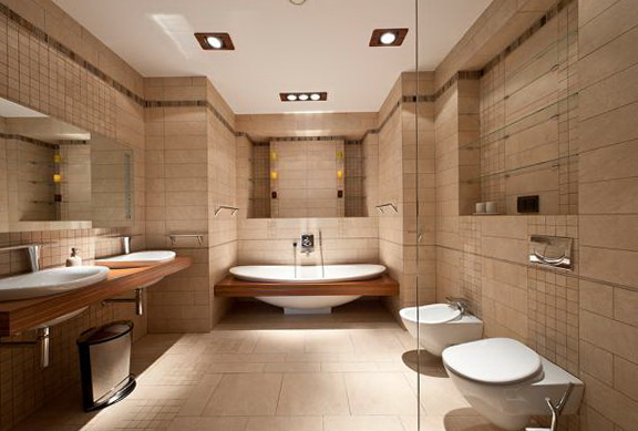The Modern Bathrooms Are In Classic Style Home Interior