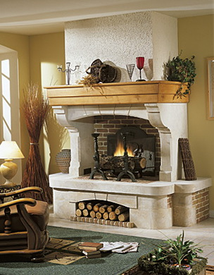 3-fireplace in vintage style