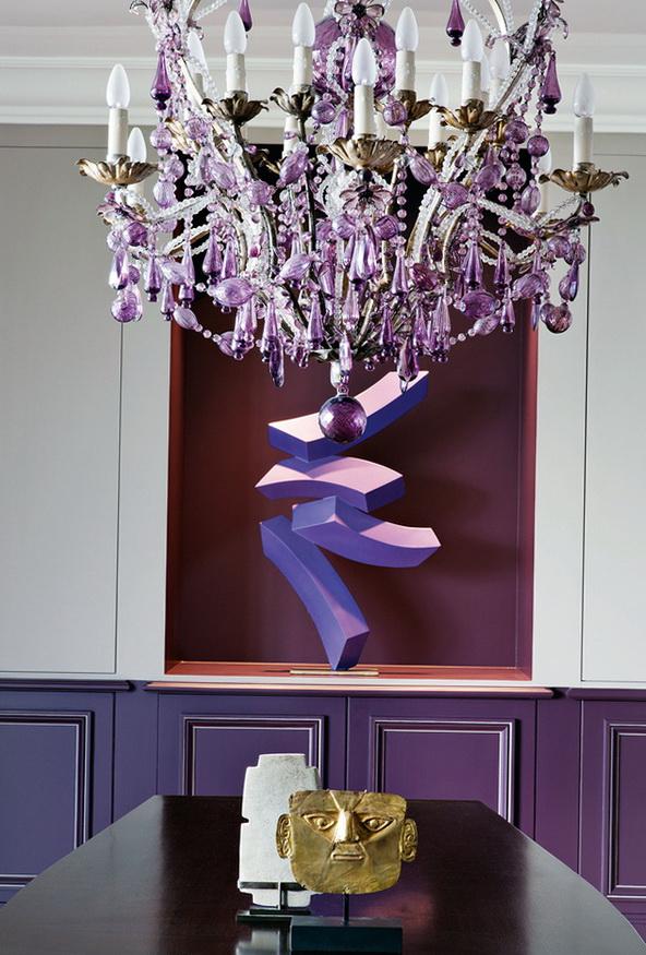 3-purple chandelier
