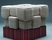 Beautiful and cozy knitted furniture