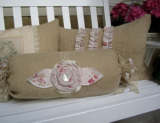 4-pillows from burlap