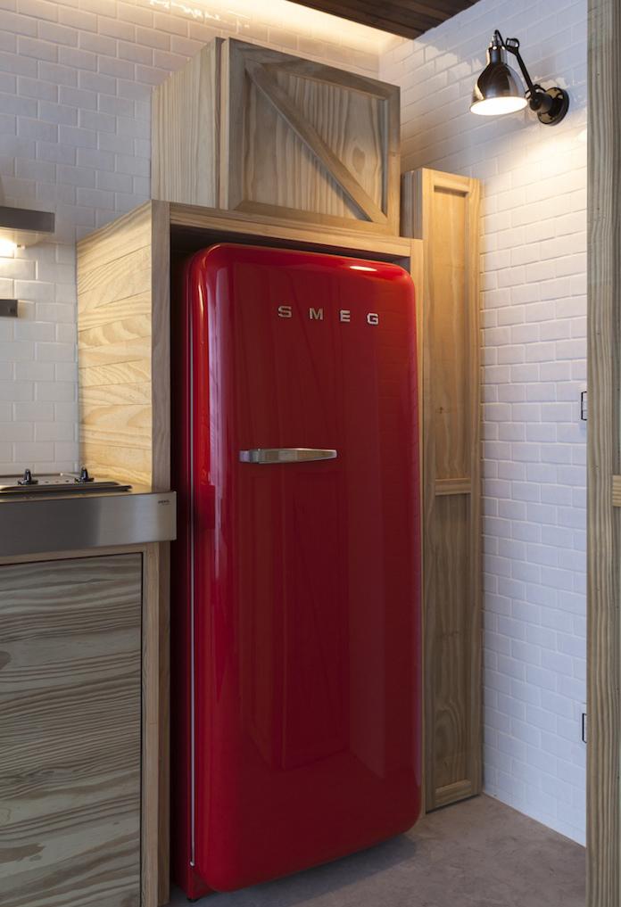 4-red refrigerator