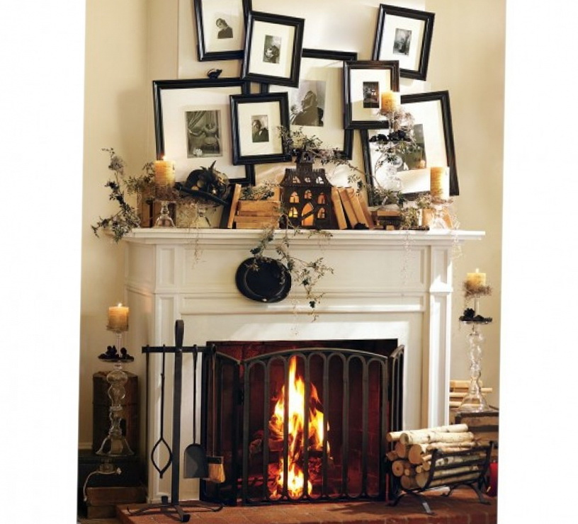 4-white fireplace
