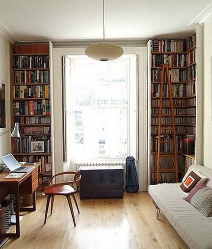5-shelf near the window