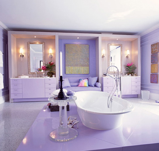 Kitchen And Bath Ideas: The Bathrooms In The Purple Color