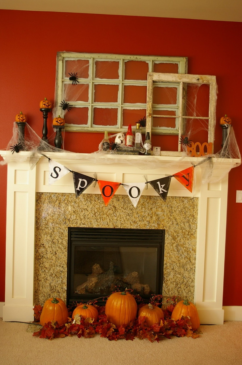 10 ideas to decorate a fireplace in halloween home interior