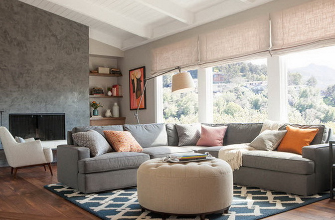 Interiors with gray and inviting sofas | Home Interior Design ...