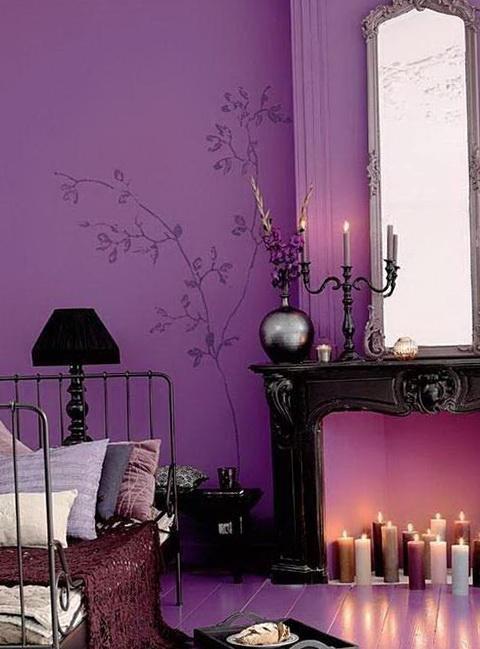 Purple Color In The Interior Home