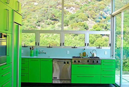 10-light green kitchen