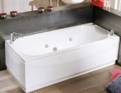 Acrylic bathtub in the interior
