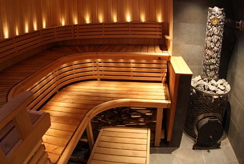 beautiful and comfortable sauna  home interior design