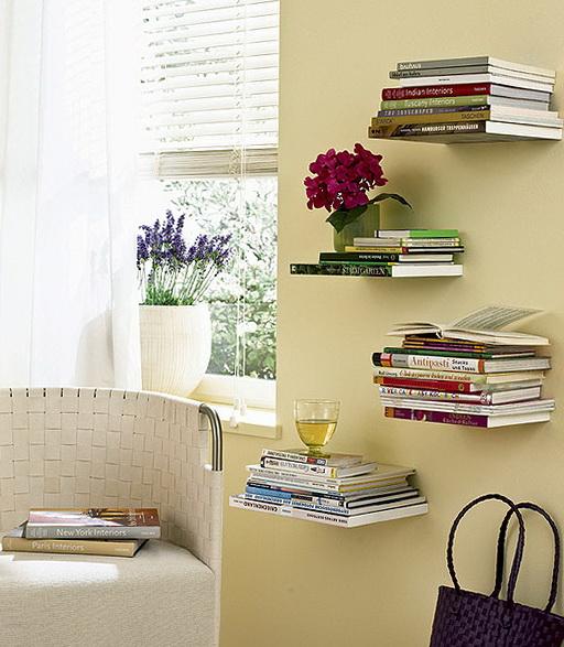 3-Shelves of books