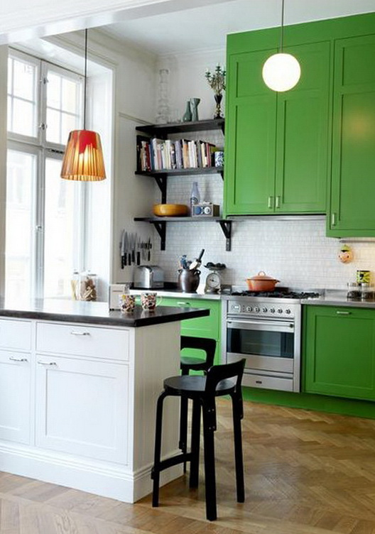 3-green cabinets