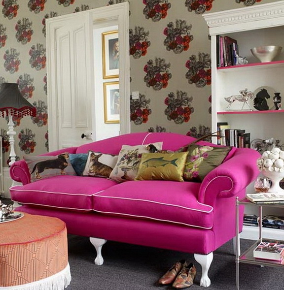 Bright and unpredictable style Kitsch | Home Interior Design ...