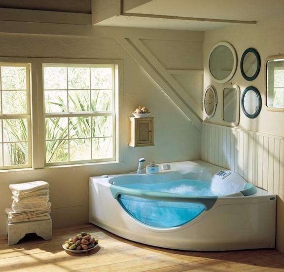 5-Corner acrylic bathtub