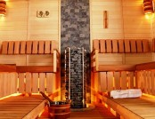 Beautiful and comfortable sauna